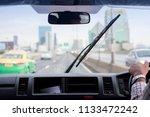 windshield wipers from inside...   Shutterstock . vector #1133472242
