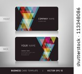 business card set. vector... | Shutterstock .eps vector #113348086