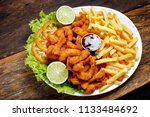 breaded fried fish | Shutterstock . vector #1133484692