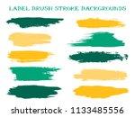 artistic label brush stroke... | Shutterstock .eps vector #1133485556
