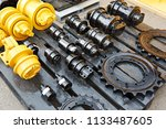 spare parts for chassis of... | Shutterstock . vector #1133487605