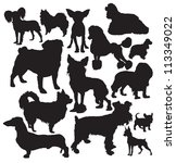 Decorative Dogs Vector...