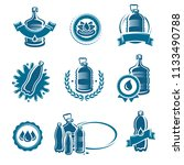 bottles water labels and... | Shutterstock .eps vector #1133490788