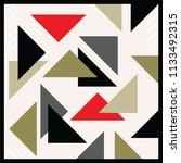 triangle scarf pattern design | Shutterstock .eps vector #1133492315