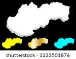 3d map of slovakia  slovak... | Shutterstock .eps vector #1133501876