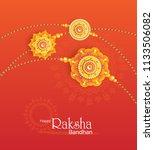 happy raksha bandhan festival...   Shutterstock .eps vector #1133506082
