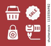 filled set of 4 commerce icons... | Shutterstock . vector #1133506982