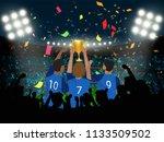group of france soccer player...   Shutterstock .eps vector #1133509502