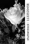 bouquet of summer flowers   rose | Shutterstock . vector #1133520458