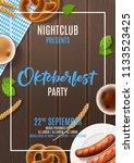 promo flyer for oktoberfest... | Shutterstock .eps vector #1133523425