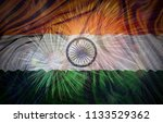 closeup of indian flag with...   Shutterstock . vector #1133529362