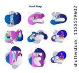 good or bad sleep vector...   Shutterstock .eps vector #1133529602