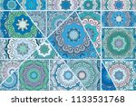 vector patchwork quilt pattern. ...   Shutterstock .eps vector #1133531768