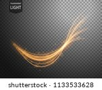 abstract gold wavy line of... | Shutterstock .eps vector #1133533628