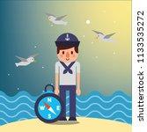 nautical maritime design   Shutterstock .eps vector #1133535272