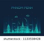 phnom pehn skyline  cambodia.... | Shutterstock .eps vector #1133538428