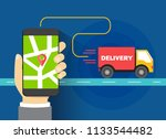 shipment trace tracker...   Shutterstock .eps vector #1133544482