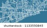 detailed vector map of kingston ... | Shutterstock .eps vector #1133550845