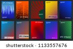 set of creative halftone... | Shutterstock .eps vector #1133557676