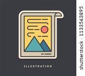 illustration sticker. thin line ... | Shutterstock .eps vector #1133563895