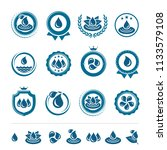 water icon and labels set.... | Shutterstock .eps vector #1133579108