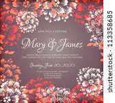 wedding card or invitation with ...   Shutterstock .eps vector #113358685