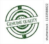 green genuine quality distress... | Shutterstock .eps vector #1133588822
