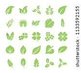 leaf flat icon set   | Shutterstock .eps vector #1133592155