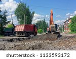 construction of new transport... | Shutterstock . vector #1133593172