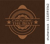 choosing the best retro wood...   Shutterstock .eps vector #1133593562