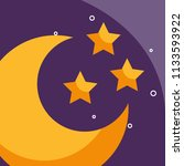 half moon and stars cartoon...   Shutterstock .eps vector #1133593922
