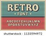 vector vintage typeface. retro... | Shutterstock .eps vector #1133594972