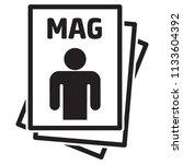 icon pictogram  magazine ... | Shutterstock .eps vector #1133604392