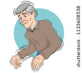 elderly person with trembling... | Shutterstock .eps vector #1133608538