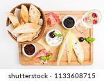 italian breakfast with... | Shutterstock . vector #1133608715