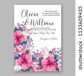 floral wedding invitation... | Shutterstock .eps vector #1133609435