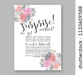 floral wedding invitation... | Shutterstock .eps vector #1133609588