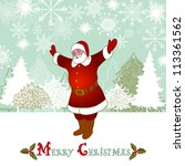 christmas and new year retro... | Shutterstock .eps vector #113361562