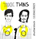 toxic twins illustration. hand... | Shutterstock .eps vector #1133615825