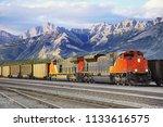 freight train arrives to jasoer.... | Shutterstock . vector #1133616575