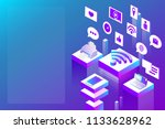 connection  internet and social ... | Shutterstock .eps vector #1133628962