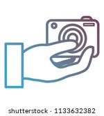 hand user with camera...   Shutterstock .eps vector #1133632382