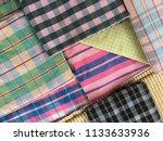 traditional fabrics local hand...   Shutterstock . vector #1133633936