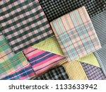 traditional fabrics local hand...   Shutterstock . vector #1133633942