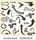 doodle arrows   Shutterstock .eps vector #113364226