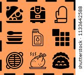 simple 9 icon set of cooking... | Shutterstock .eps vector #1133642588