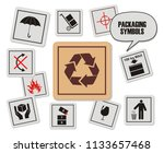 set of packaging symbols... | Shutterstock .eps vector #1133657468