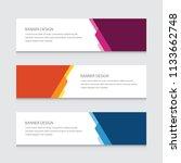 modern banner design vector... | Shutterstock .eps vector #1133662748