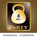 golden emblem with 4kg... | Shutterstock .eps vector #1133664356
