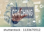 coaching with businessman... | Shutterstock . vector #1133670512